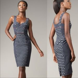 Yoana Baraschi Navy Polka Dot Pin Up Dress Size 6